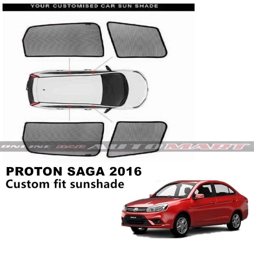 Custom Fit OEM Sunshades/ Sun shades for Proton Saga Yr 2016 - 4pcs