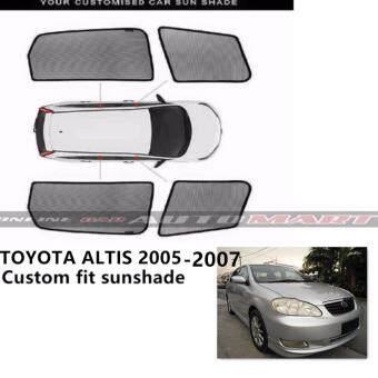 Custom Fit OEM Sunshades/ Sun shades for TOYOTA ALTIS (2005-2007) - 4pcs