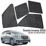 Broz Custom Fit OEM Sunshades/ Sun shades for Toyota Innova 2016 (6PCS)
