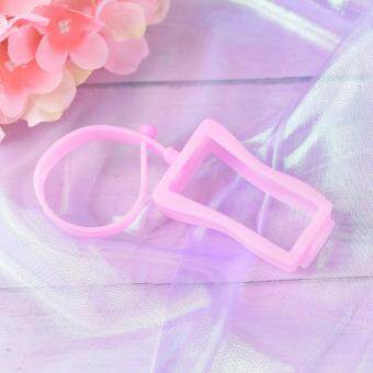 Cute Silicone Hand Sanitizer Holder Mini Refillable Bottle Portable Traveling Pink