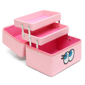 Cute three layer large capacity waterproof high-grade makeup box makeup bag