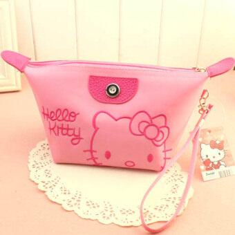 Harga Cute travel portable waterproof cosmetic storage bag Korean cosmetic bag