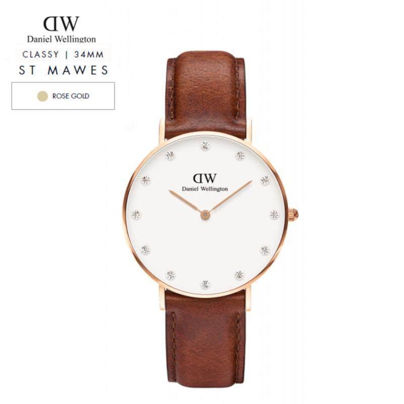 Daniel Wellington Classy White 34mm | St Mawes ( Rose Gold ) Malaysia
