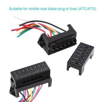 DC 32V 6 Way Circuit Blade Fuse Box Block Holder ATC ATO For CarAuto Trailer Boat