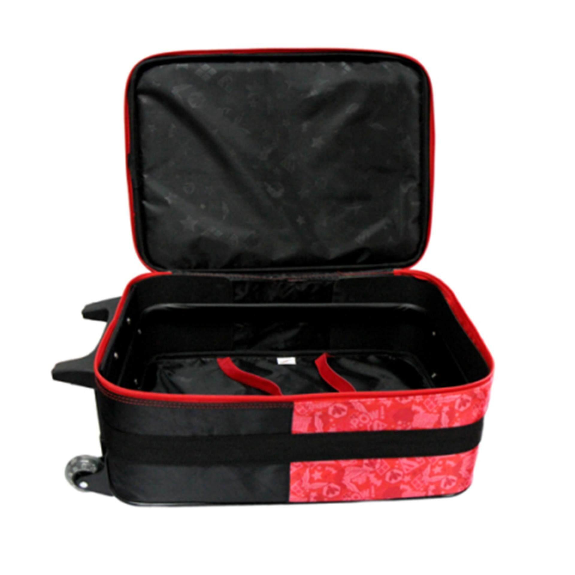 DC Comics Super Hero Girls Square Luggage Bag - Black Colour