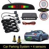 Broz DC12V Car Parking Sensor 4 Sensors Monitor Auto Reverse Backup Radar Detector System Kit Sound Alert BIBI Sound Alarm Indicator Probe