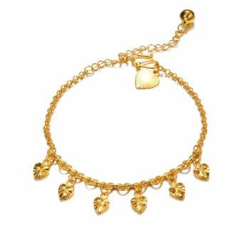 Harga DeParis Premium 18K MERRY Heart ANKLET with BELL (Gold)