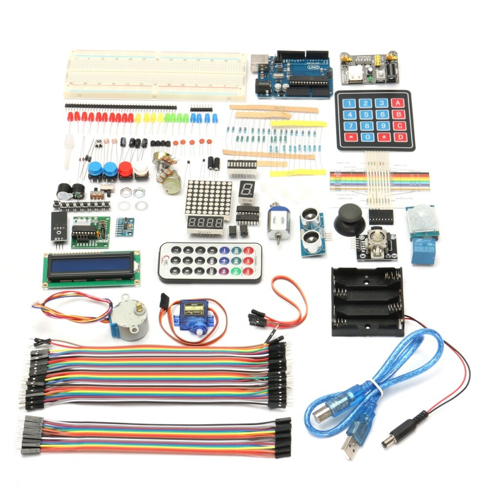 Generic Ultimate Starter learning Kit DIY For Arduino UNO R3 LCD1602