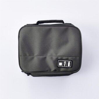 Digital Gadget Case Electronics Accessories Bags Travel Organiser Storage Boxes (Grey)