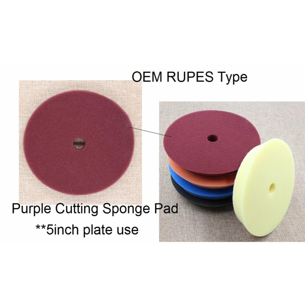 Direct OEM Rupes type from factory 6 inch Foam Cutting DA sponge pad for 5 inch disc