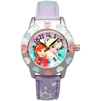 Harga Disney Frozen Girl's Princess Anna and Elsa Strap Watch PSFR1405-01C (Purple)