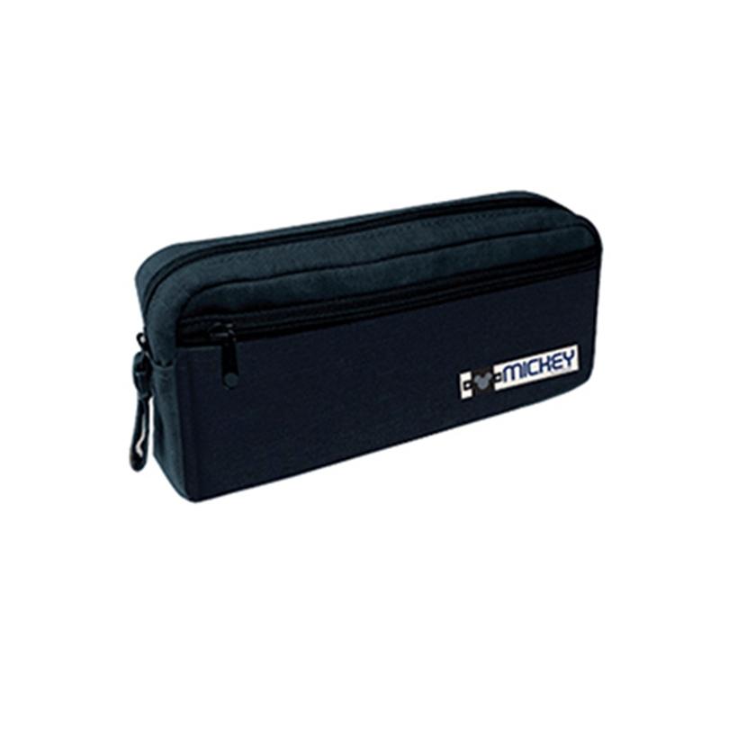 Disney Mickey Adult Pencil Bag With Pocket - Black Colour