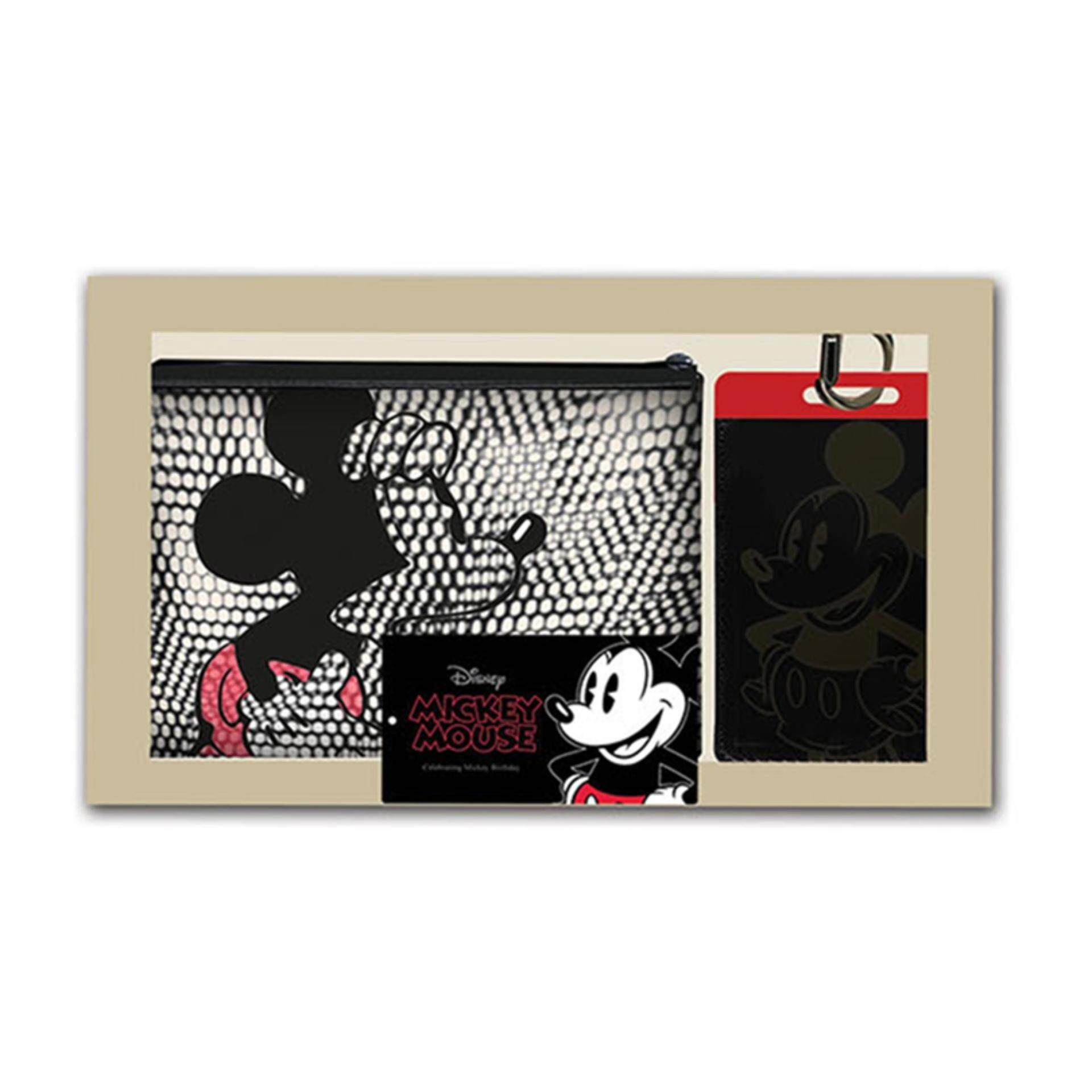 Disney Mickey Pouch With Lanyard Gift Set