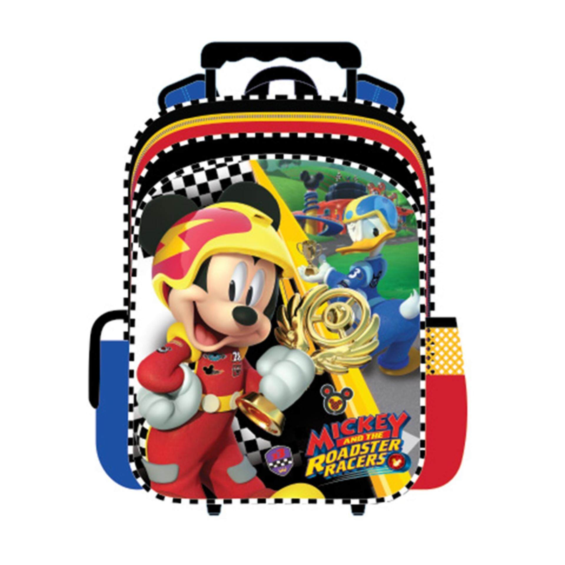 Disney Mickey Pre School Trolley Bag - Roadsters Racers