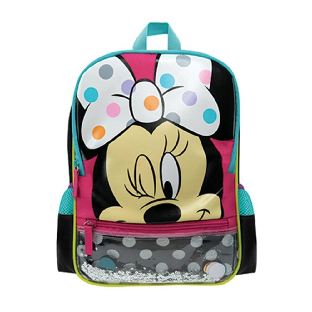 Disney Minnie Backpack School Bag 12 Inches - White Pink Colour