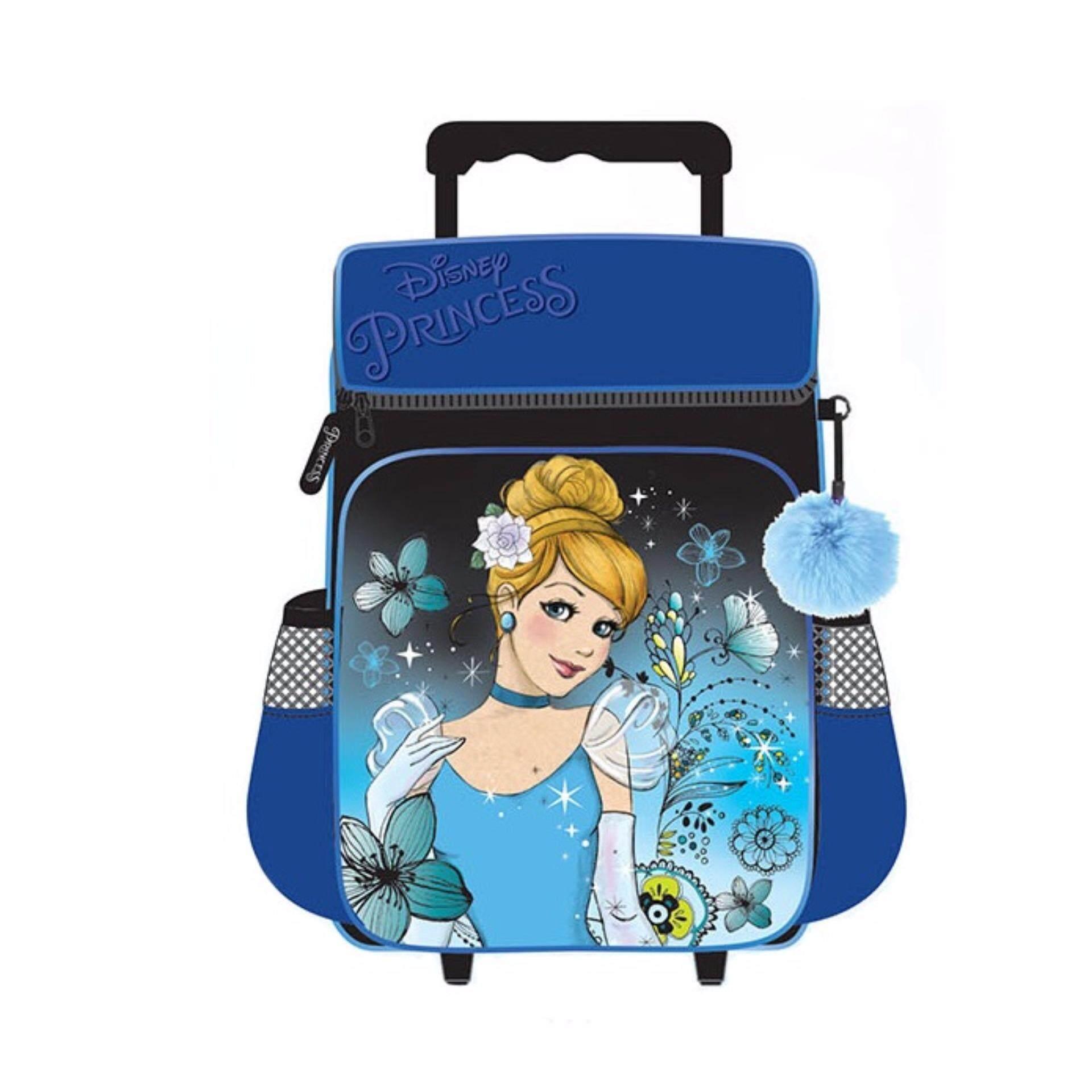Disney Princess Cinderella School Trolley Bag - Blue Colour