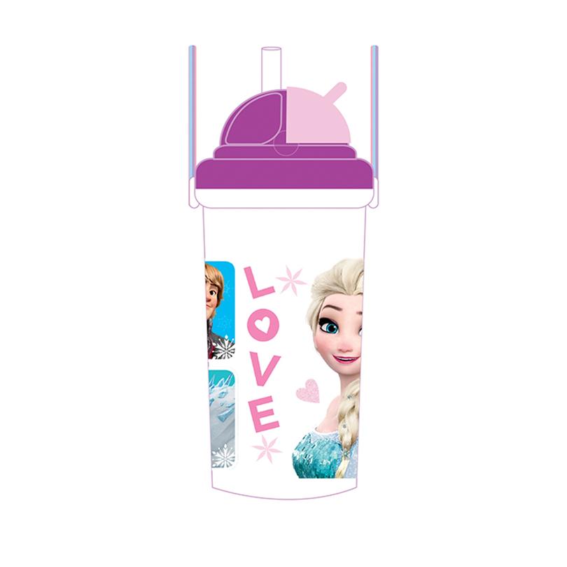Disney Princess Frozen 500ML Water Bottle - Purple Colour