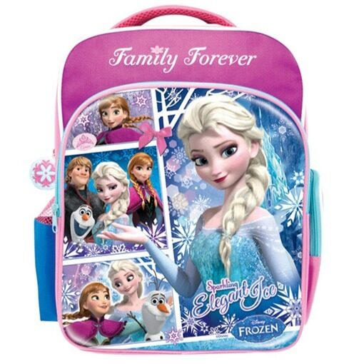 Disney Princess Frozen School Bag - Purple Colour