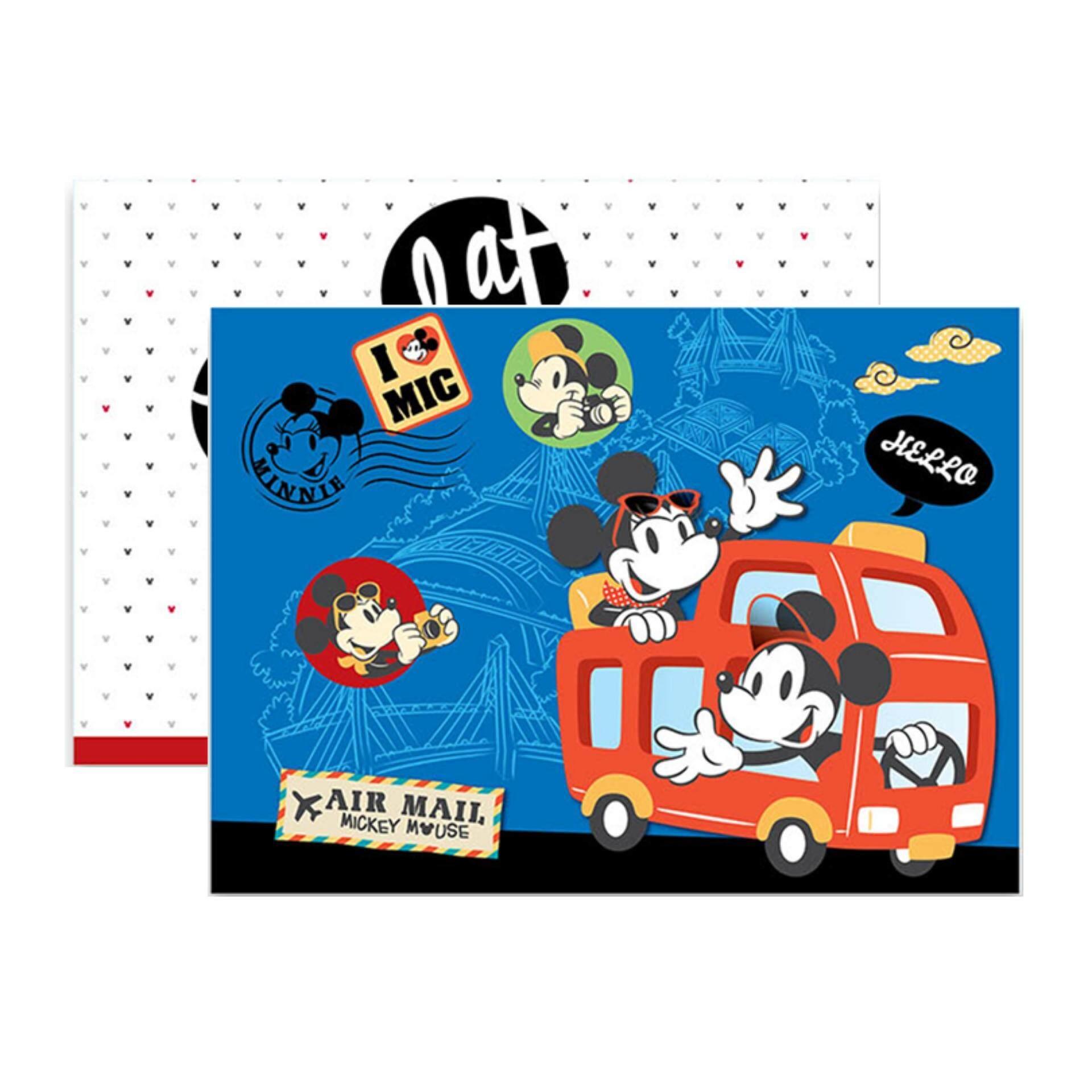 Disney Retro Drawing Block Set White And Blue Colour