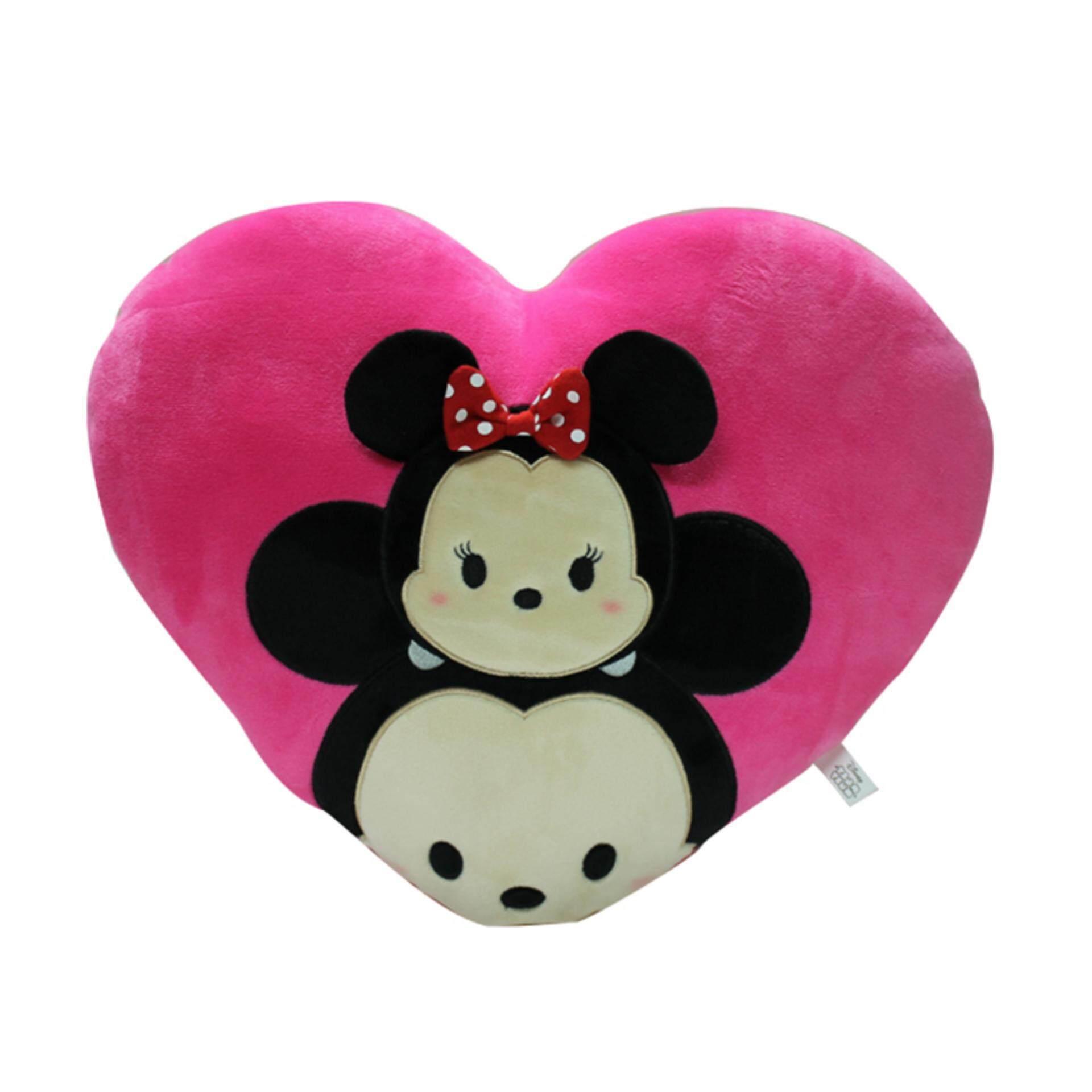 Disney Tsum Tsum Heart Cushion - Mickey & Minnie