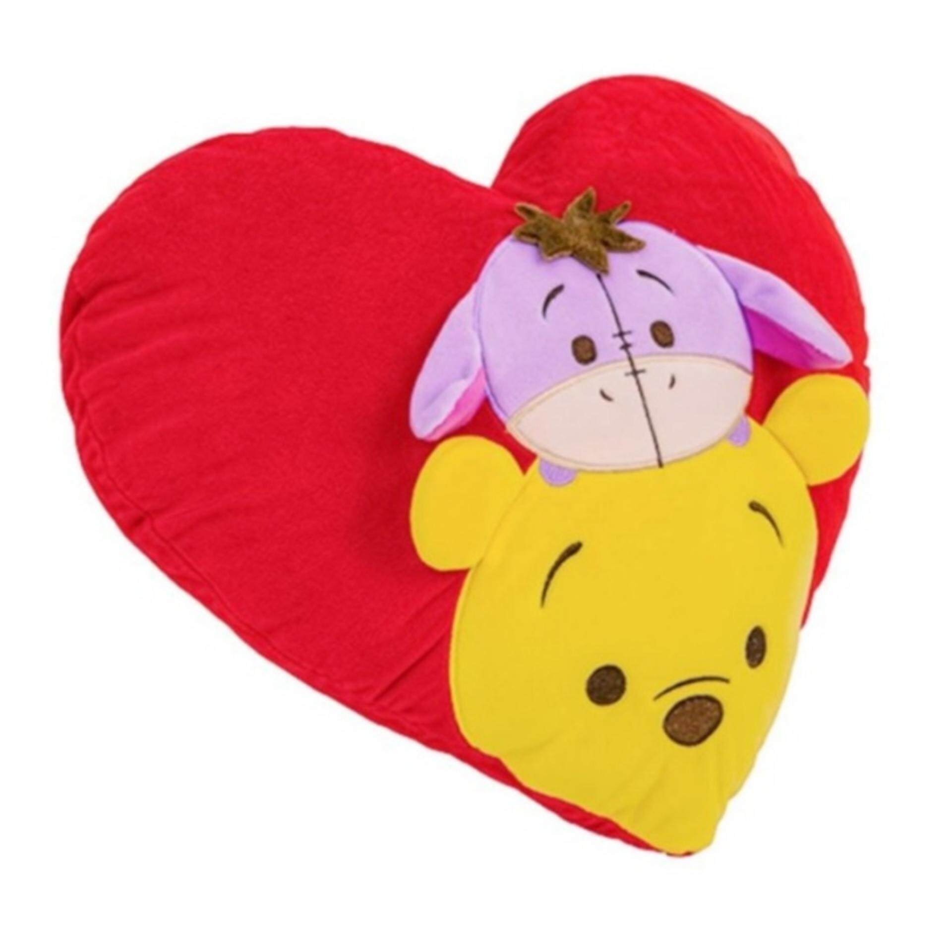 Disney Tsum Tsum Heart Cushion - Pooh & Eeyore