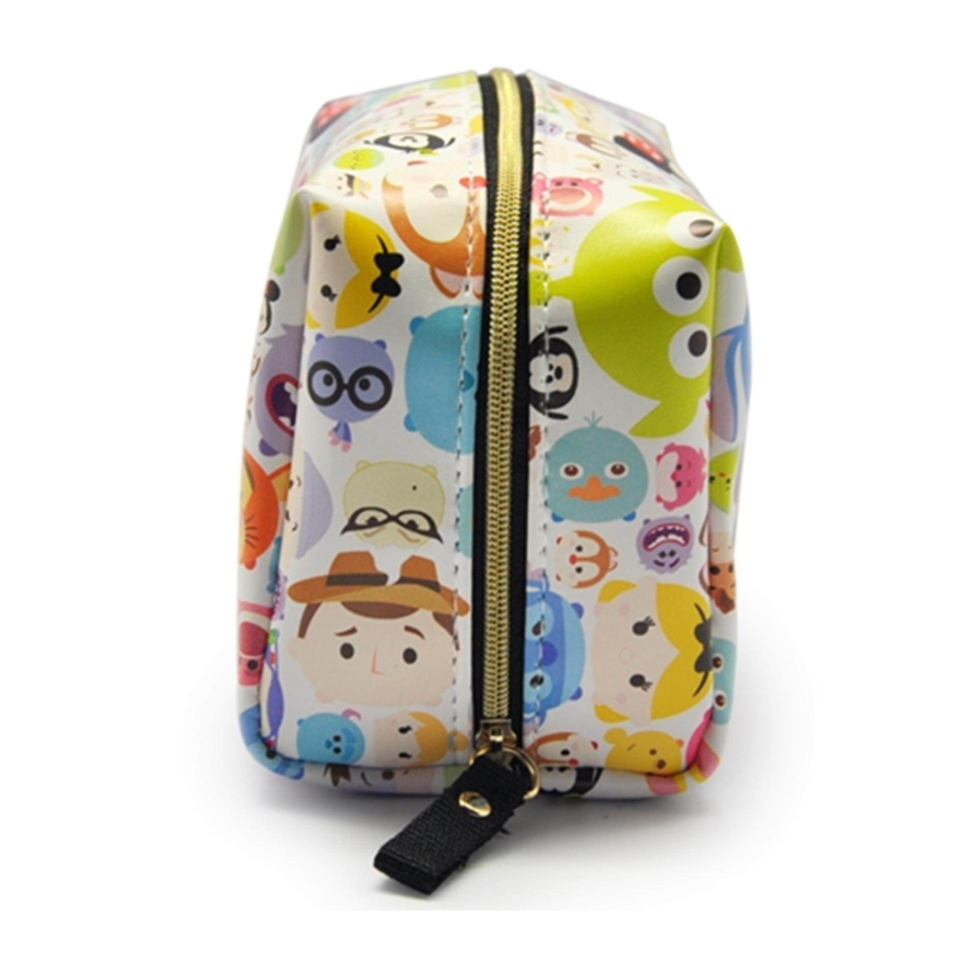Disney Tsum Tsum Square Pouch Bag - White Colour