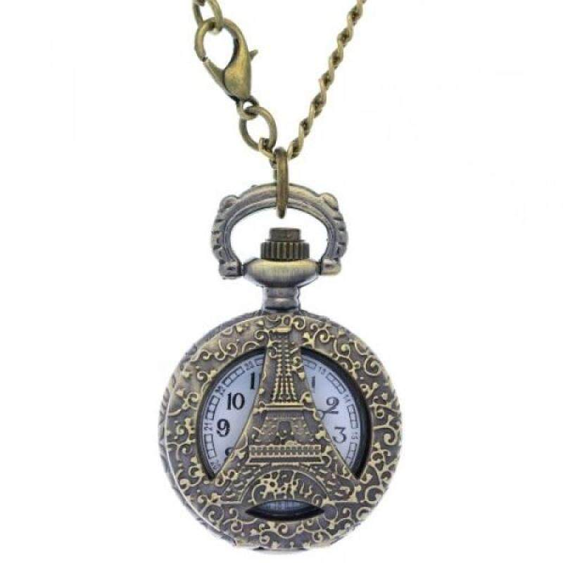 [DNKR]FobTime Hollow Effiel Tower Dress Pocket Watch Luxury Carved Paris tower womans Quartz Watch Malaysia