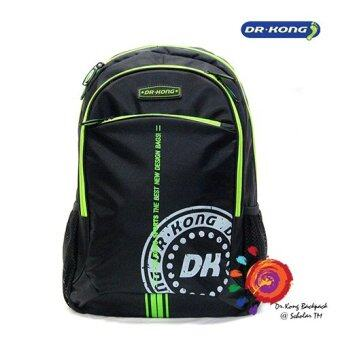 Harga Dr Kong Back Support Backpack Children School Bag Kids Travel Bag Z120003 (BLACK)