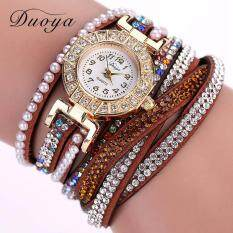 Duoya Luxury Designer Ladies Watch ladies Watch Girl Watch  Pearl Scale Bracelet Quartz Wristwatch Crystal Diamond Clock ladies Watch Girl Watch  Dress Watch - Brown
