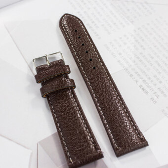 Durable High-grade PU leather Womens Mens Watch hand Strap16MM-20MM Brown - Intl-