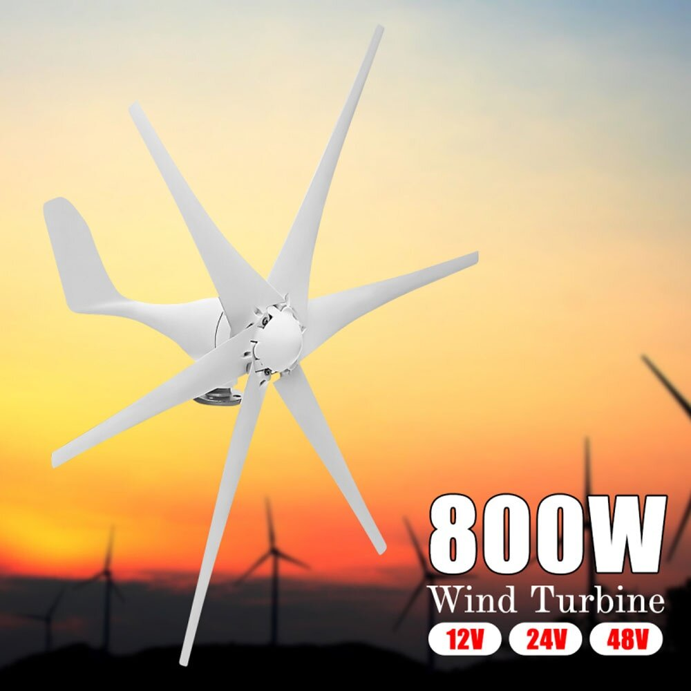 Buy Generic 12v 24v 48v 800w Max 820w 6 Blades Wind Turbine Wiring Diagram 1x Turbines Kitstents Is Not Included Manual Image