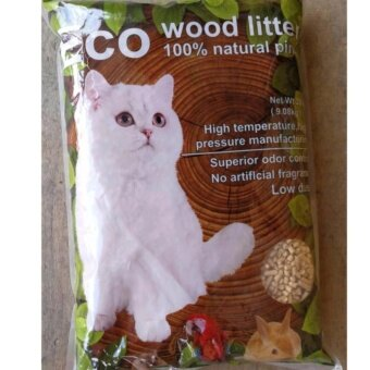 Harga ECO Natural Pine Wood Cat litter 9kg