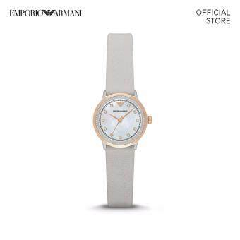 EMPORIO ARMANI GRAY LEATHER WATCH