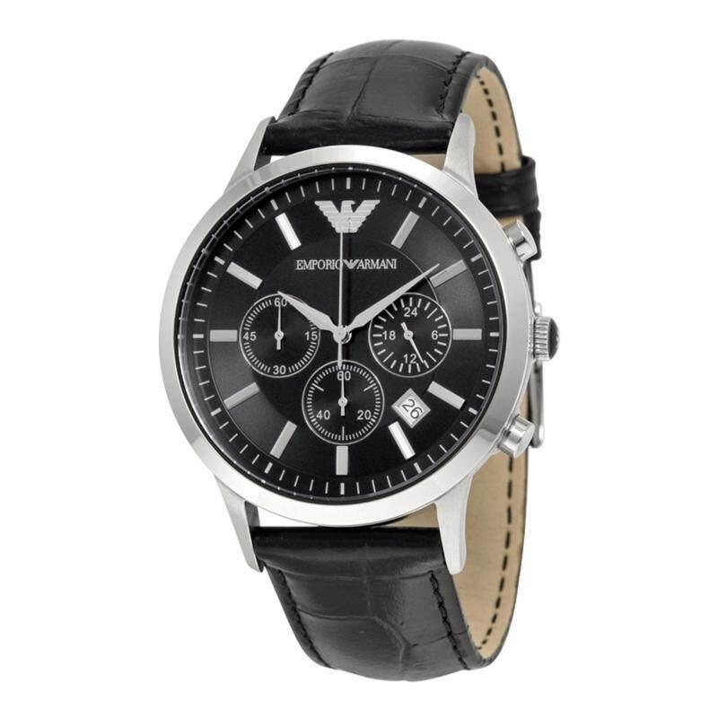 Emporio Armani Mens Chronograph Black Dial Watch AR2447 Malaysia