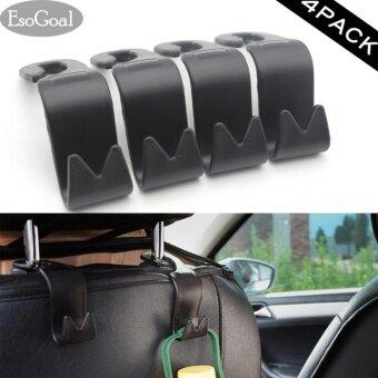esogoal car vehicle back seat headrest organizer hanger storage hook for groceries bag handbag. Black Bedroom Furniture Sets. Home Design Ideas