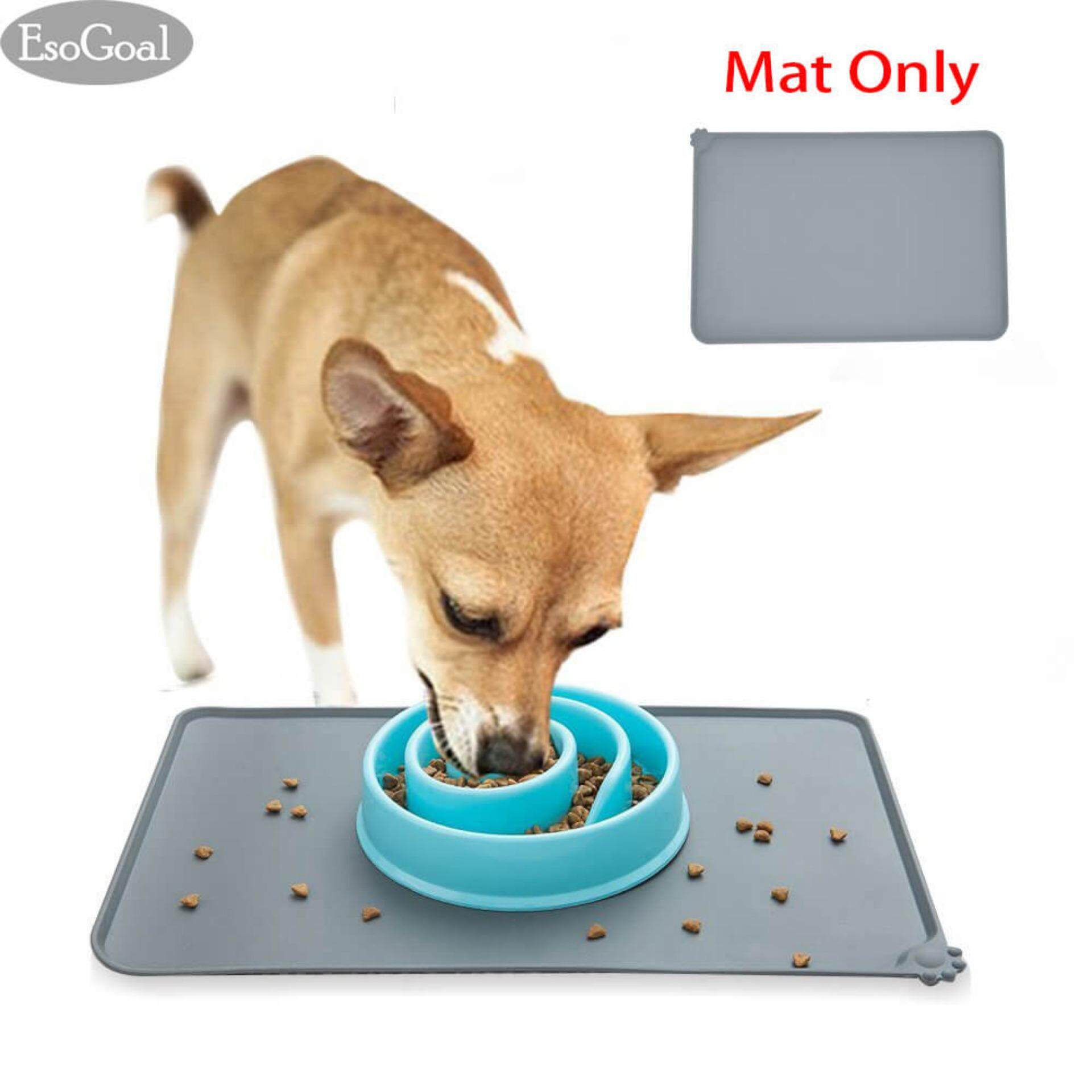 slip tray malaysia pet food non bowl mats and mat waterproof silicone dogs eating esogoal cats for feeding