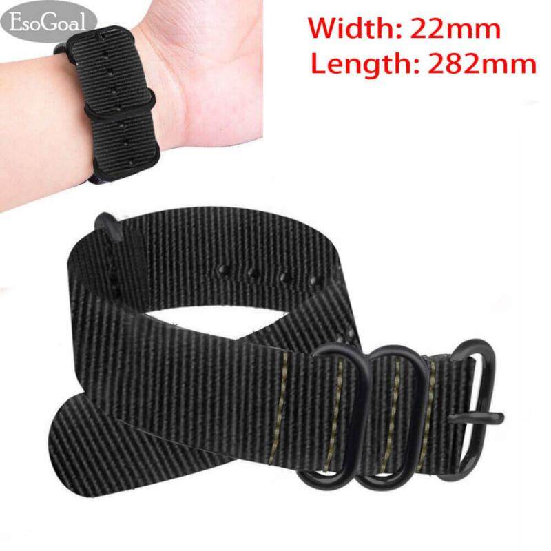 EsoGoal Premium Nylon Watch Bands Canvas Watchband Straps (Width 20mm Length 282mm) Malaysia