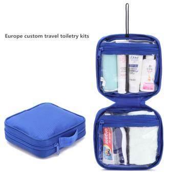 Europe Custom Travel Toiletry Bag Kits Blue Lazada