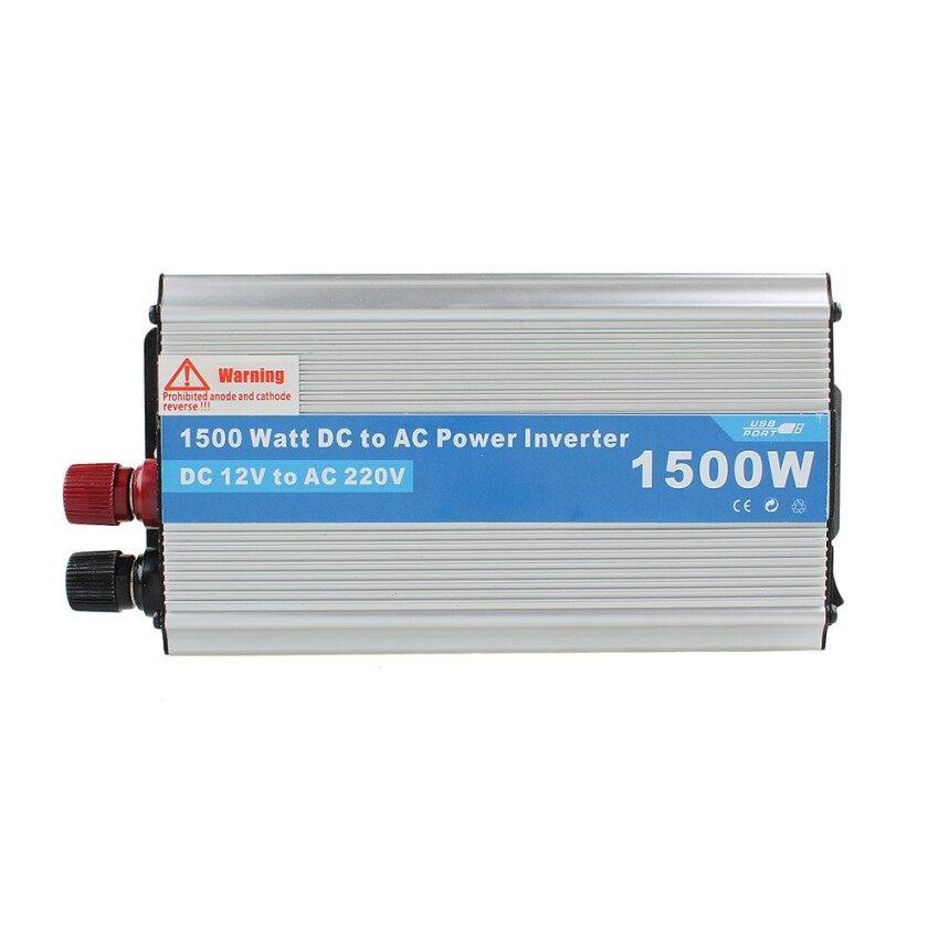 Evercute 1500 W Inverter Daya Adaptor DC 12 V Ke AC 220 V untuk Kulkas Mobil/Televisi/Kamera -Internasional