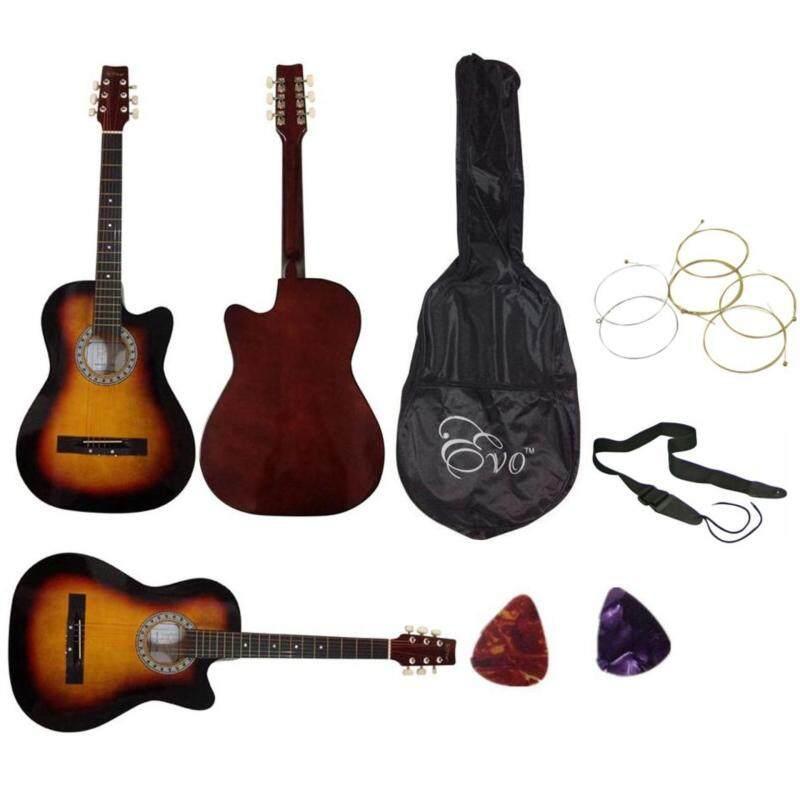 Evo Acoustic Guitar 38 Inch(Brown)+Bag+Strap+Strings+2 Picks Malaysia