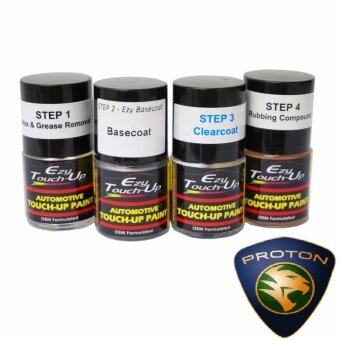 Ezy Touch Up Paint For PROTON (Solid White-A0082 / A0157 / A0169)Combo Set