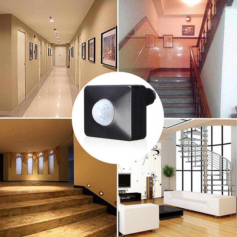 Buy Generic 120 Pir Infrared Motion Sensor Led Light Security Threewire System Wall Mount Automatic Ir Switch Flat Inner Corner Or Outer Function Of Power And Detection Indication Identify Day Night Automatically