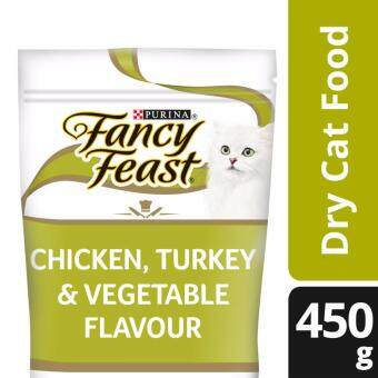 Harga FANCY FEAST(R) DRY Chicken, Turkey And Vegetable Dry Cat Food Pouch (1 pack of 450g)