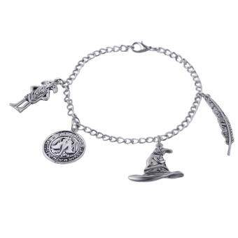 Harga Fancyqube Movie Harry bracelets potter feather Vintage SilverPlated Charm Hat Hogwarts School bracelet with 4 Charm ForChristmas Gifts