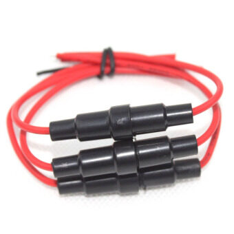 Fancytoy 10Pcs 5x20mm AGC Fuse Holder Inline Screw Type Wire Cable22 AWG for Car - - 4
