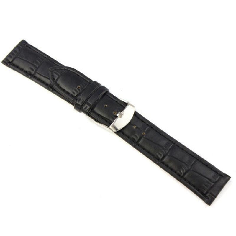 Fang Fang Leather Strap Wrist Watch Band 22mm (Black) Malaysia