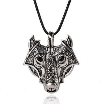 Fantastic Flower 1PCS Pendant Norse Vikings Of The Necklace Norse Wolf Head Necklace Original Jewelry Animal Wolf Head hange