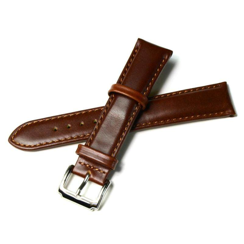 Fashion 22mm Genuine Leather Women Men Watch Band Replacement Bracelet Watch Bands Strap with Buckle Malaysia