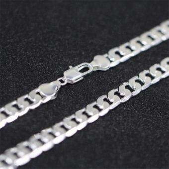 FASHION Men Jewelry 925 Silver Chain Necklace for Men 8MM 24 Inch - 3