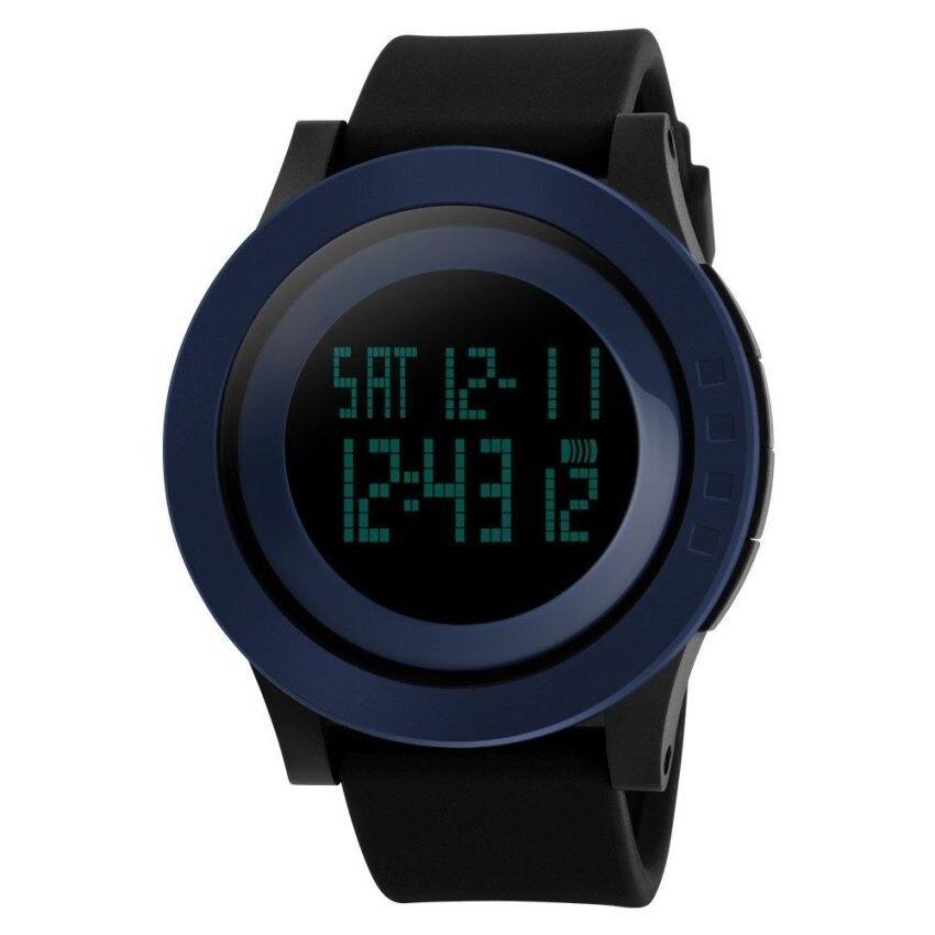 Modis Silikon Anti-Air LED Digital Jam Tangan untuk Menclockdigital-Jam Tangan (Angkatan Laut Biru) (Tidak Ditentukan) (Luar Negeri)-Internasional